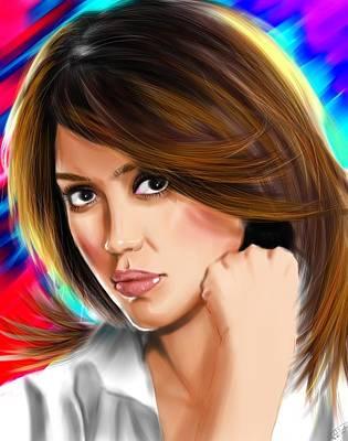 Jessica Alba Painting - Jessica Alba by Isaac Martinez