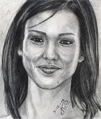 Jessica Alba Portrait Original