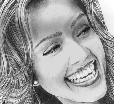 Jessica Alba Drawing - Jessica Alba by Shafina Noor