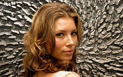 Portrait Digital Art - Jessica Biel by Maye Loeser