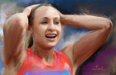 Jessica Ennis Painting - Jessica Ennis-hill 2012 Gold Medalist by Jack Bunds