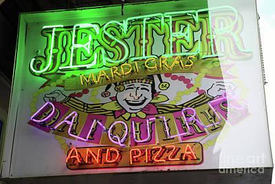 Photograph - Jester Mardi Gras Sign by Steven Spak