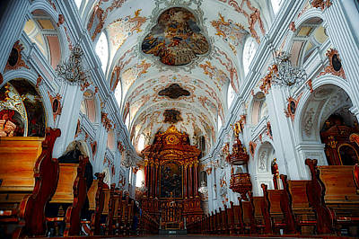 Photograph - Jesuit Church Of Lucerne by Richard Gehlbach