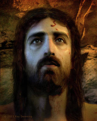 Head Digital Art - Jesus Alive Again by Ray Downing