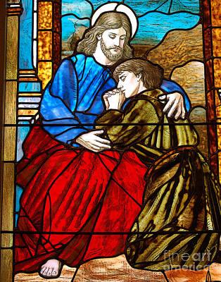 Diane Digital Art - Jesus And John by Diane E Berry