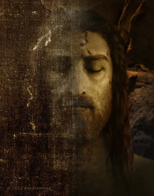 Channel Wall Art - Digital Art - Jesus And Shroud by Ray Downing