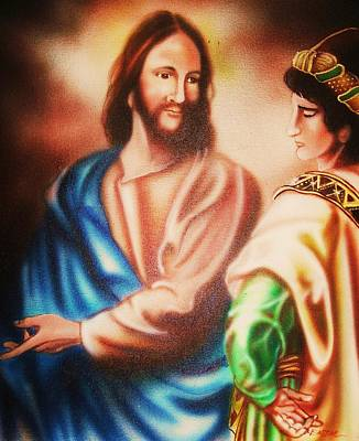 Jesus And The Rich Young Ruler Art Print by Scott Easom