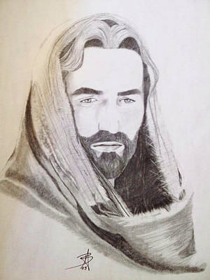 Drawing - Jesus by Angelee Borrero