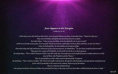 Discipleship Digital Art - Jesus Appears To His Disciples by Alexis Moreno Plariza
