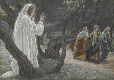 Jesus Appears To The Holy Women Art Print by Tissot