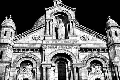 Sacred Heart Of Jesus Photograph - Jesus At Sacre Coeur by John Rizzuto