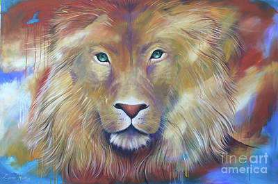 Lion Of Judah Painting - Jesus At The Centre by Lynne Hudson