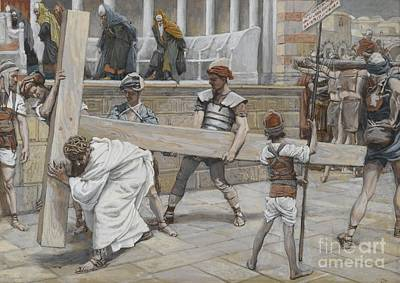 Jew Painting - Jesus Bearing The Cross by Tissot