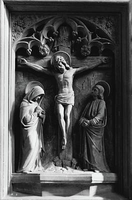 Photograph - Jesus Been Prayed For While Dying On The Cross by Jacek Wojnarowski