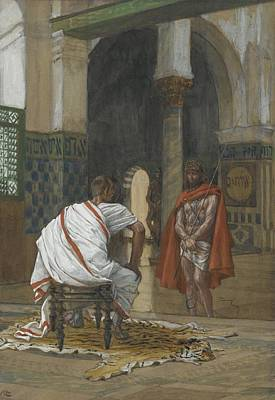 Pain Painting - Jesus Before Pilate by Tissot