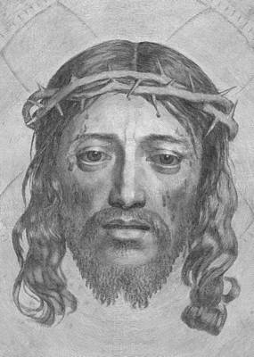 Photograph - Jesus Black And White Face                                by Munir Alawi