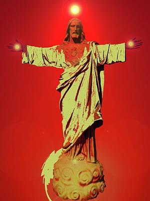 Basic Mixed Media - Jesus Bless No. 01 by Ramon Labusch