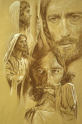 Pencil Drawing Of Jesus Drawing - Jesus by Bryan Dechter