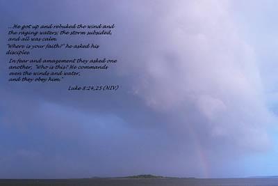 Jesus Calms The Storm Art Print by Sheri McLeroy