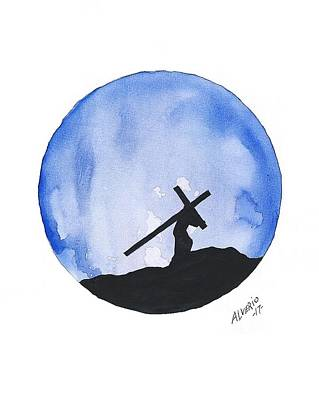 Painting - Jesus Carried His Own Cross by Edwin Alverio