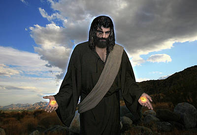 Jesus Christ- And He Withdrew Himself Into The Wilderness And Prayed Art Print