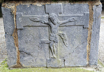 Photograph - Jesus Christ Celtic Crucifix Stone Carving Jerpoint Abbey County Kilkenny Ireland by Shawn O'Brien