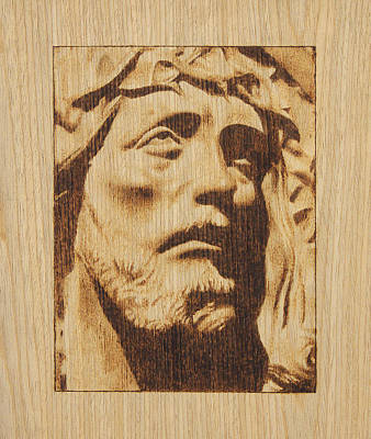 Pyrography On Wood Pyrography - Jesus Christ by Conrad  Pinto