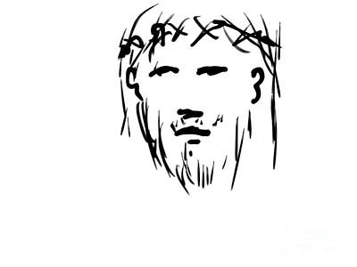 Digital Art - Jesus Christ Head by Paul Ramnora