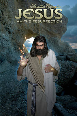 Photograph - Jesus Christ- I Am The Resurrection  by Acropolis De Versailles