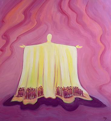 Fathers Painting - Jesus Christ Is Like A Tent Which Shelters Us In Life's Desert by Elizabeth Wang