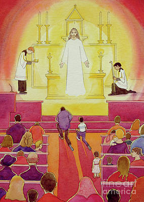 Communion Painting - Jesus Christ Is Truly Present In The Blessed Sacrament by Elizabeth Wang