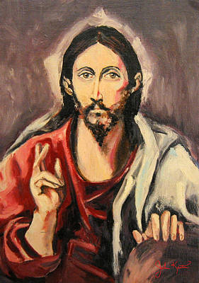 Johnkeaton Painting - Jesus Christ by John Keaton
