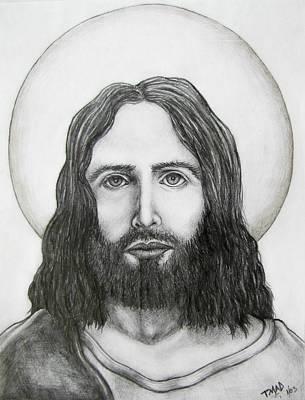 Jesus Christ Drawing - Jesus Christ by Michael  TMAD Finney