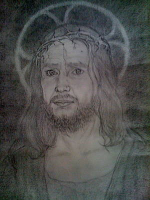 Drawing - Jesus Christ Our Saviour by Rebecca Poole