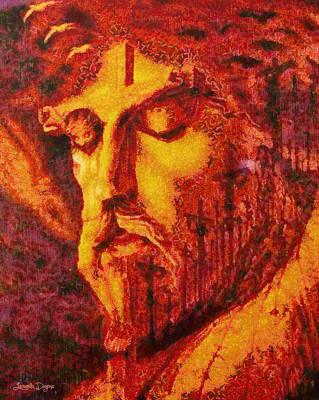 Mystic Painting - Jesus Christ - Pa by Leonardo Digenio