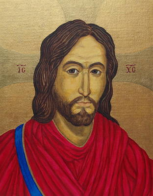 Painting - Jesus Christ Pantocrator - After Salus Populi Romani by Michele Myers