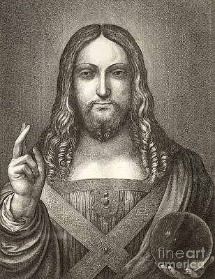 Drawing - Jesus Christ  by R Muirhead Art