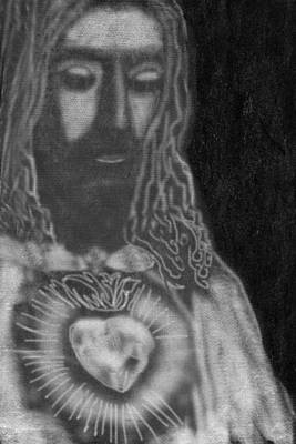 Bible Drawing - Jesus Christ by Art Spectrum