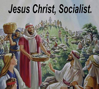 Recently Sold - Animals Digital Art - Jesus Christ Socialist by JustJeffAz Photography