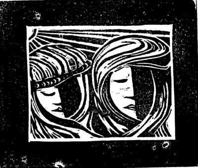 Jesus Comforts The Women Art Print by Lars Lindgren
