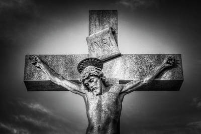 Photograph - Jesus Cross Statue by David Pyatt