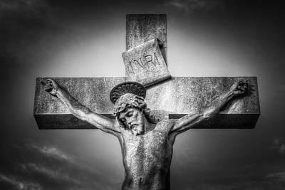 Photograph - Jesus Cross Statue by David Pyatt