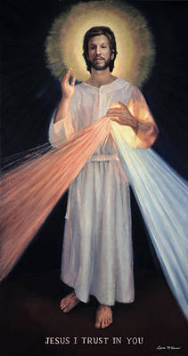 Divine Mercy Painting - Jesus Divine Mercy by Sister Laura McGowan