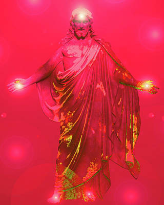 Jesus-energy No. 31 Art Print by Ramon Labusch