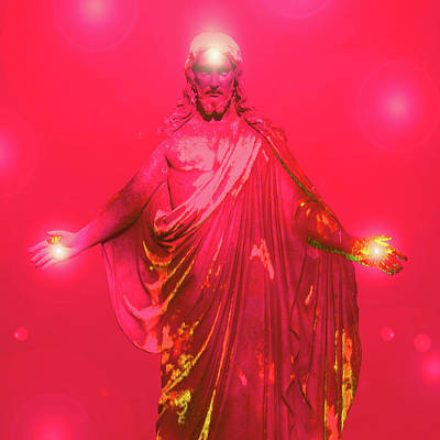 Jesus-energy No. 32 Art Print by Ramon Labusch