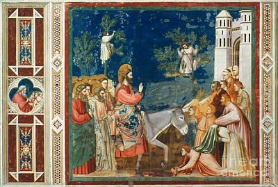 Jesus Entering Jerusalem Art Print