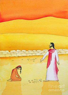 Jesus Forgives The Woman Caught In Adultery Art Print