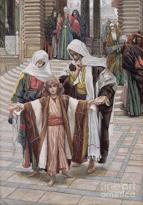 Family Love Painting - Jesus Found In The Temple by Tissot