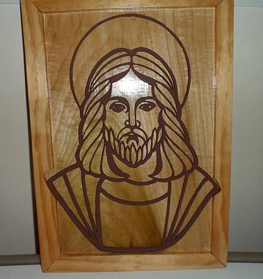 Scroll Saw Relief - Jesus Frame by M and D Magic Creations