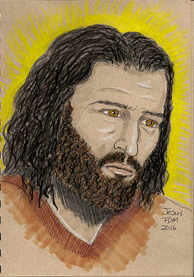 Painting - Jesus by Frank Middleton